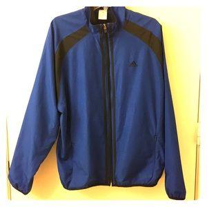 Adidas Blue & Black Windbreaker Jacket